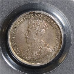 1912 10 Cents, PCGS MS-65, attractively toned, great surfaces and lovely toning.