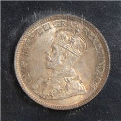 1919 10 Cents, ICCS MS-66, amazingly toned. Scarce this nice.