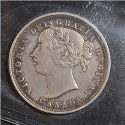 1858 20 Cents, ICCS VF-30.