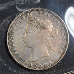 1871 25 Cents, ICCS F-12 Obverse 1.