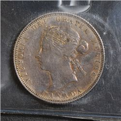 1885 25 Cents, ICCS VF-30.