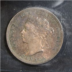 1890H 25 Cents, ICCS MS-63, light but attractive toning. Tough date