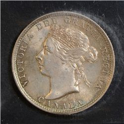 1892 25 Cents, ICCS MS-64, lightly toned. Very nice example. Near GEM!