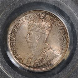 1936 25 Cents, PCGS MS-66, superbly toned. Scarce so nice!