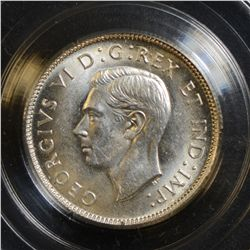 1939 25 Cents, CCCS MS-64, in Hard Casing.