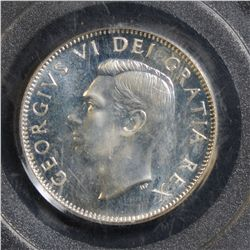 1951 25 Cents, High Relief PCGS SP-66.
