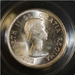 1954 25 Cents, CCCS MS-64, in Hard Casing.
