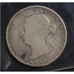 1872H 50 Cents, ICCS G-4 Inverted A/V.