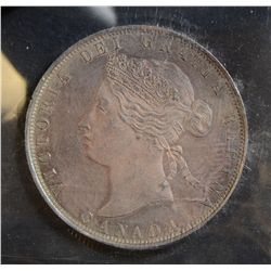 1872H 50 Cents, ICCS MS-62 PQ, attractively toned with somewhat CAMEO. Flashy and rare!