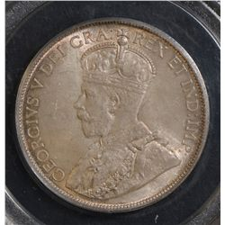 1931 50 Cents, PCGS MS-65, light gold and pink toning over full original lustre. Very nice GEM!