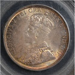 1934 50 Cents, PCGS MS-65, light to medium autumn shades. Nice GEM!