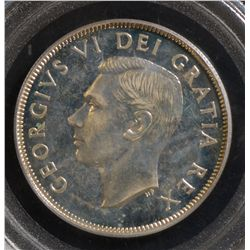 1949 50 Cents, PCGS SP-66.  Great reflective surfaces. Very scarce.