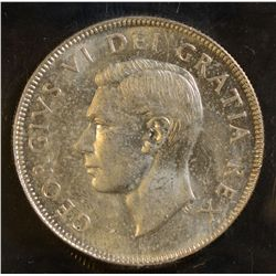 1950 Design in 0 & 1953 Small Date 50 Cents, both ICCS MS-64.  Lot of 2 coins.