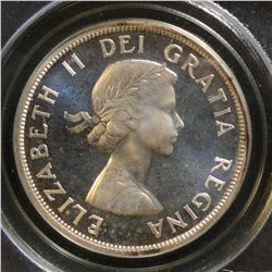 1956 $1.00, ICCS/PCGS PL-67 HEAVY CAMEO, great example with lovely reflective surfaces.