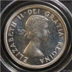 1957 $1.00, PCGS PL-66, brilliant with nice reflective surfaces. Scarce in this condition.