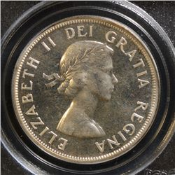 1958 $1.00, PCGS PL-67, brilliant with great reflective surfaces. Scarce this nice.