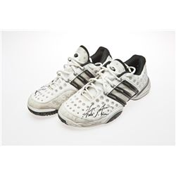 Andre Agassi Signed White Adidas Tennis Shoes