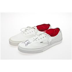Jonah Hill Signed White Vans Sneakers