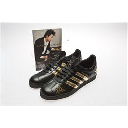 Lang Lang Signed black Adidas tennis shoes with autographed book