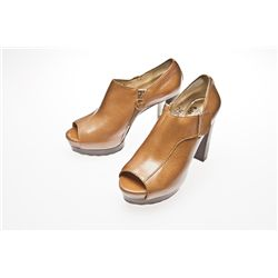 Adrienne Maloof Signed Michael Kors Tan Pumps