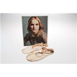 Natalie Portman Signed Sansha Pro ballet shoes and Photo