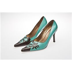 Susan Sarandon Signed Blue and Brown Parade Pumps