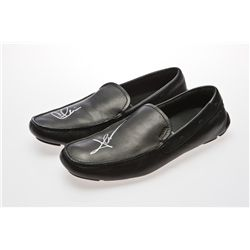 Charlie Sheen Signed Black Prada Leather Loafers