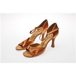 Edyta Sliwinska Signed International Dance Copper Pumps from Dancing With The Stars