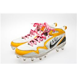 Pittsburgh Steeler James Farrior Signed Nike Football Cleats
