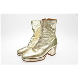 Stephen Gately Gold Boots Used in Joseph and the Amazing Technicolor Dreamcoat