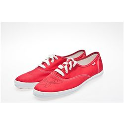 Selena Gomez Signed Red Keds Shoes