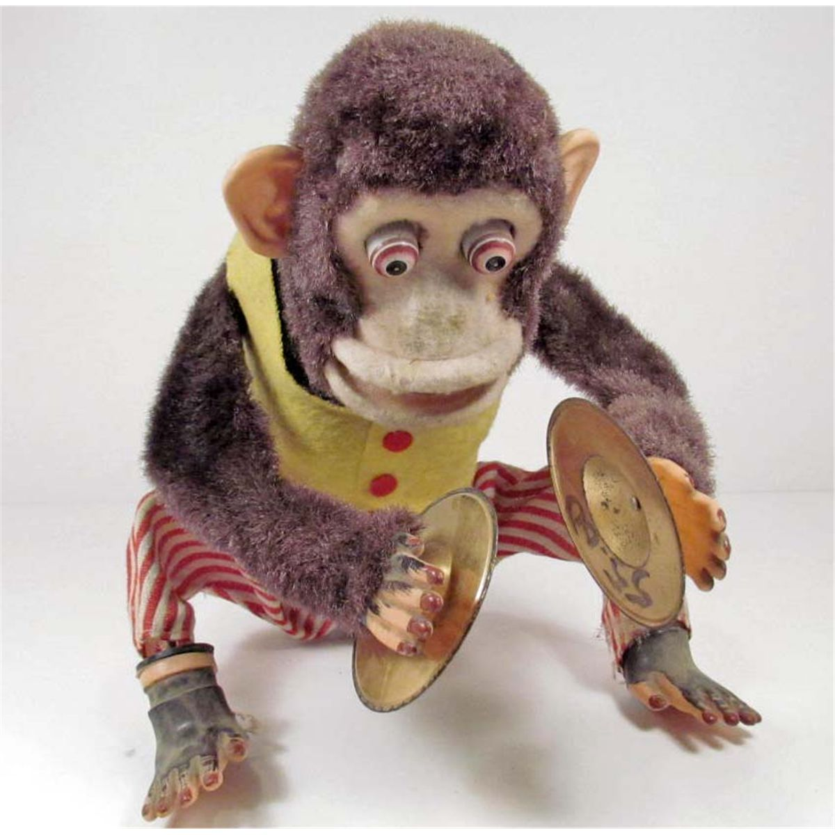 Vintage Monkey W Symbols Battery Operated Toy
