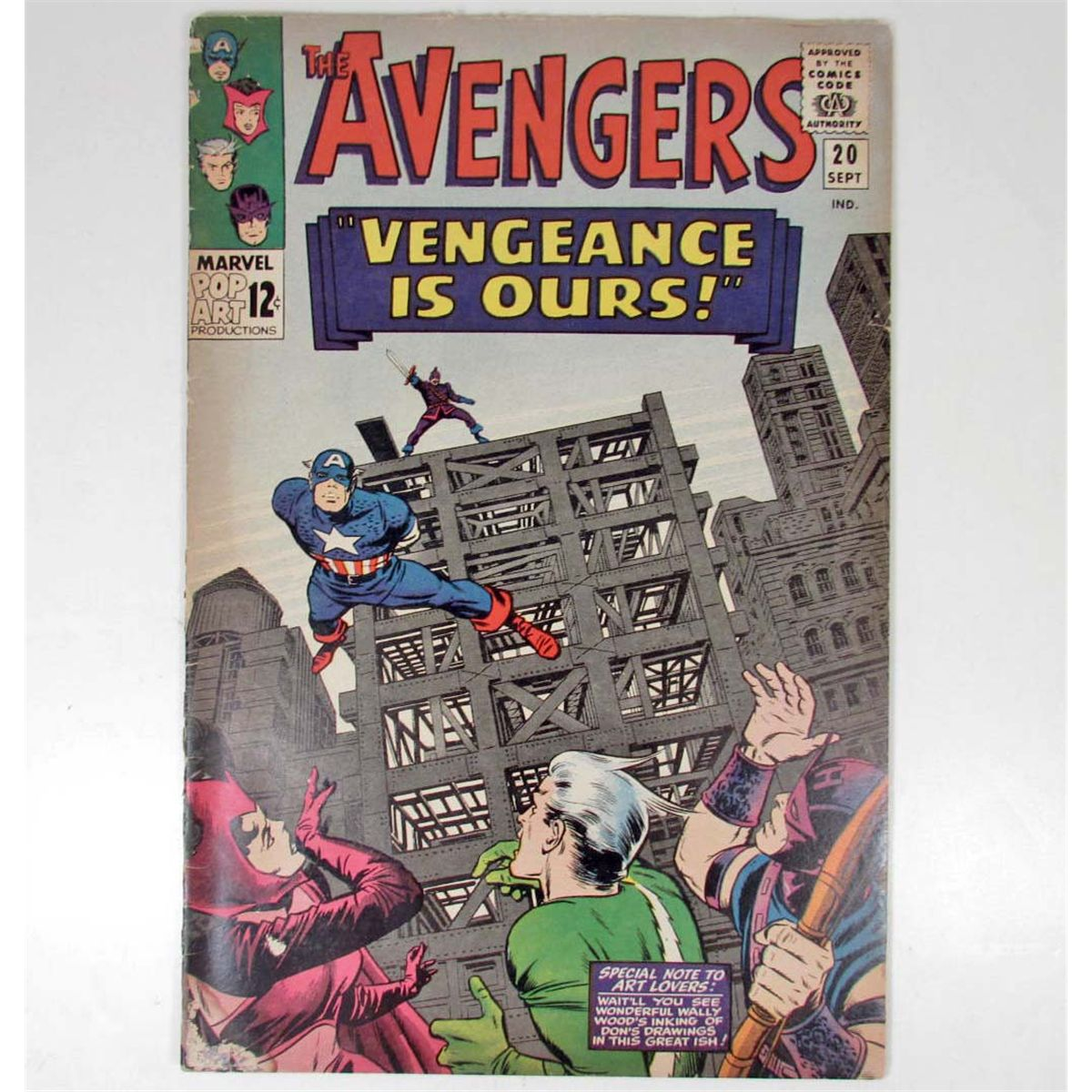 Free Comic Book Day Locations: 1965 THE AVENGERS NO. 20 COMIC BOOK