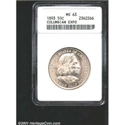 1893 50C Columbian MS63 ANACS.