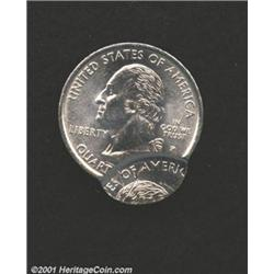 1999-P 25C Pennsylvania Quarter--Double Struck--MS62 Scratched Uncertified.