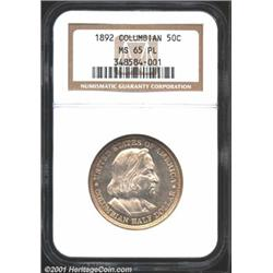 1892 50C Columbian MS65 Prooflike NGC.