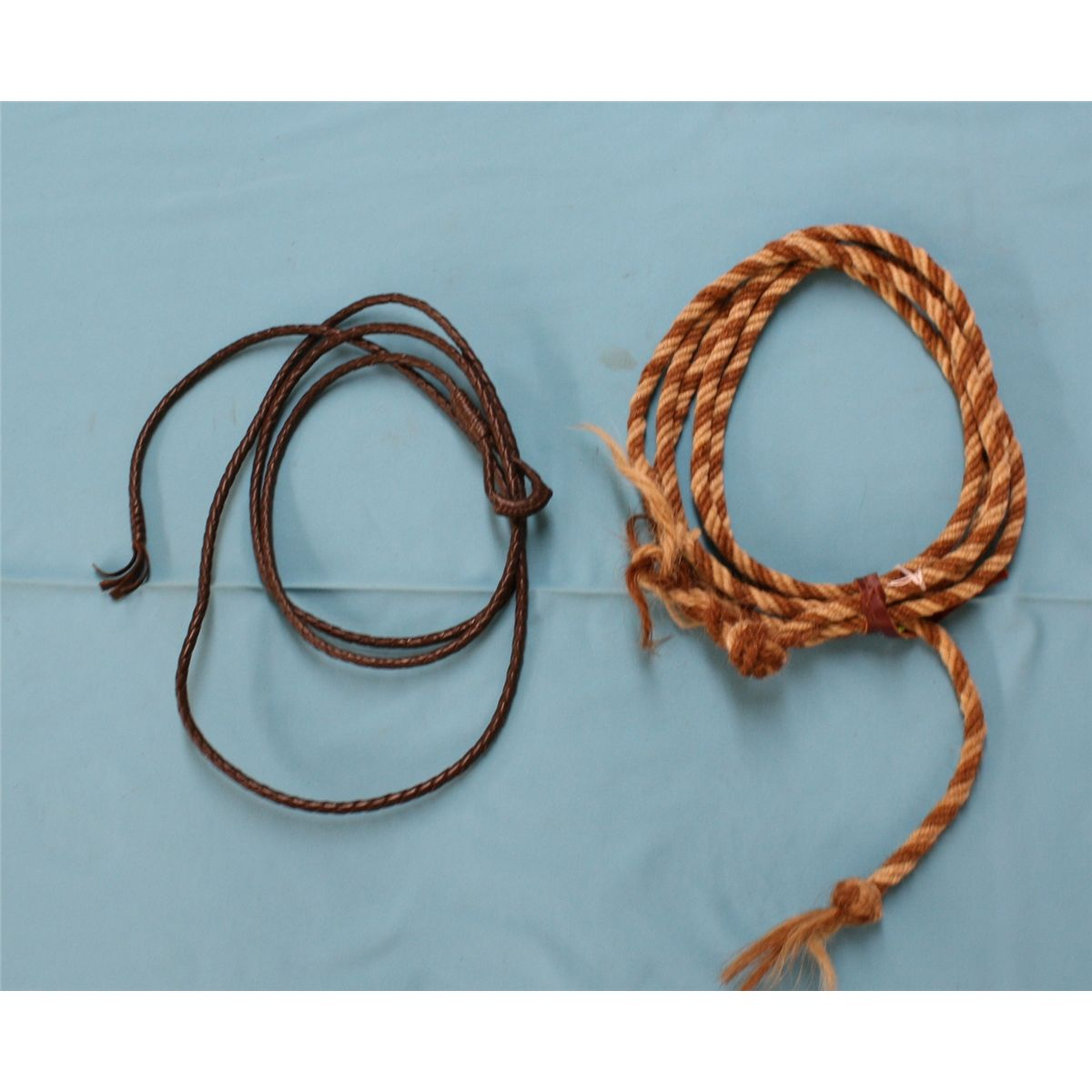 Horsehair macate and small braided saddle rope Est. $50-75