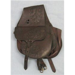 AL FURSTNOW saddle bags, clear mark, floral tooled, good condition.