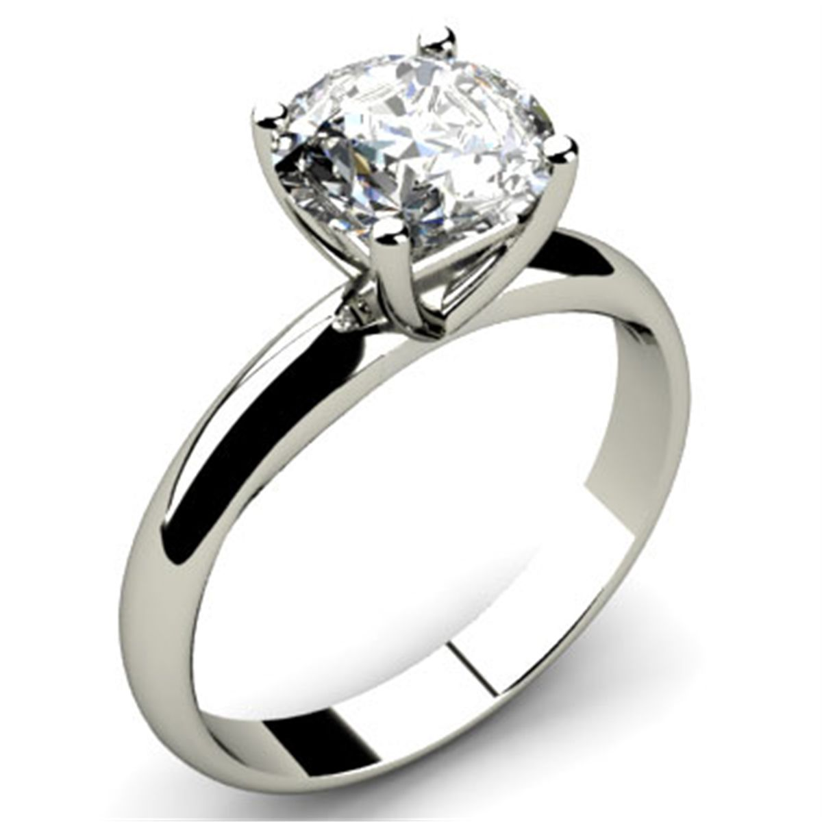 ct round cut diamond solitaire ring g h i. Black Bedroom Furniture Sets. Home Design Ideas