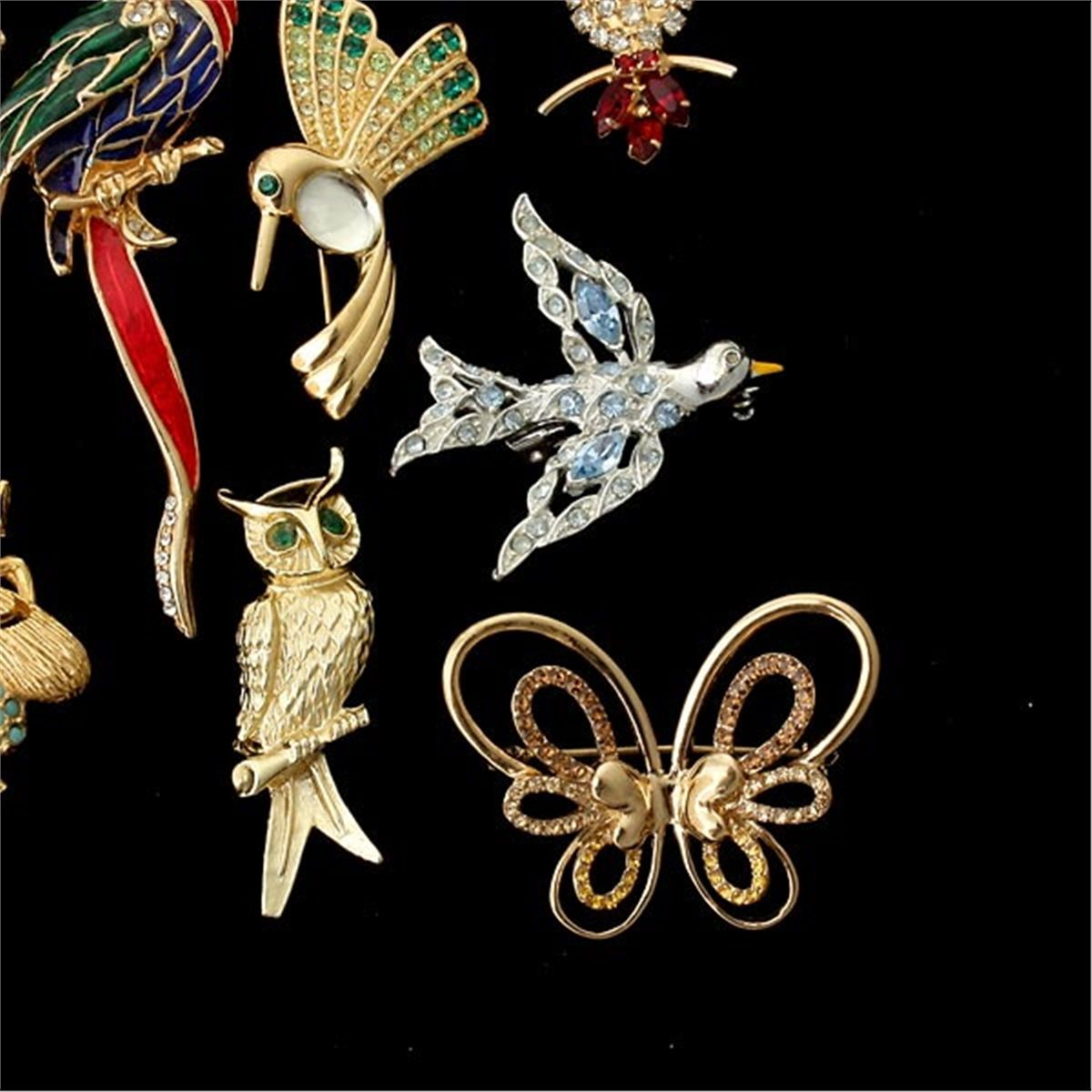 sc 1 st  iCollector.com & 17 ANIMAL MOTIF COSTUME JEWELRY BROOCHES.