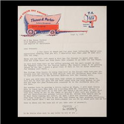 Long Letter to Trudy Forsher From Colonel