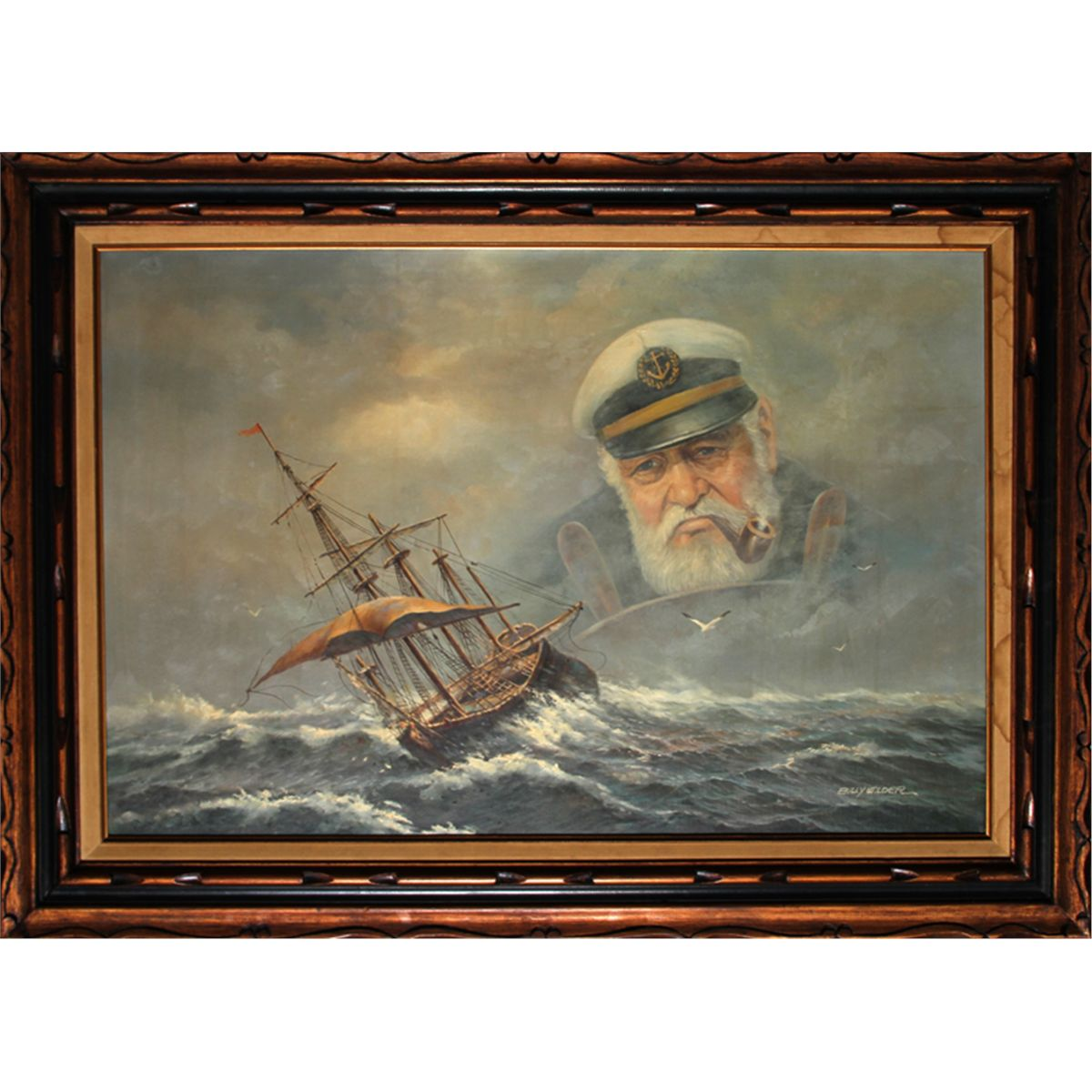 Billy Wilder Old Sea Captain Oil Painting