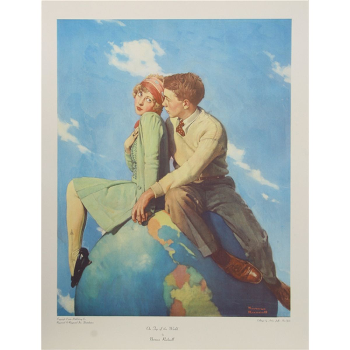 Norman Rockwell, On top of the World, Collotype Poster