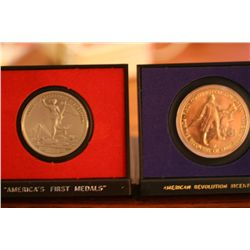 "Lot Of 2 ""Americas First Medals"",""American Revolution Bicentennial"""