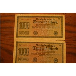 Lot Of 2 Reichsbanknote 1000