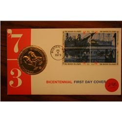 """American Revolution"" Bicentennial First Day Cover"