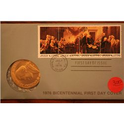 "Bicentennial First Day Cover ""Jefferson"" $1"