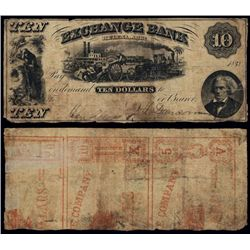 Arkansas, Exchange Bank, Obsolete Banknote.