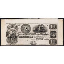 Bank of the State of Arkansas at Batesville, ca.1830's Obsolete Proof.