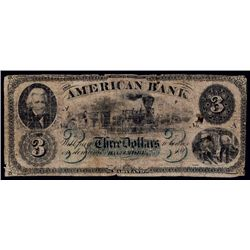 American Bank $3 Advertising Note.